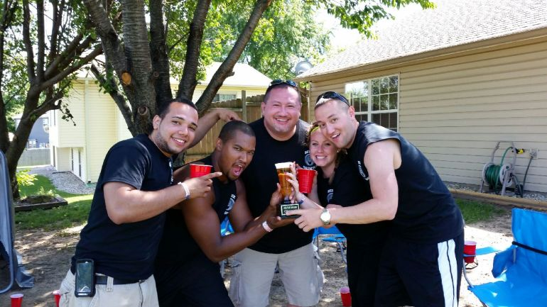 2nd place team with their Far Out Beer Trophy