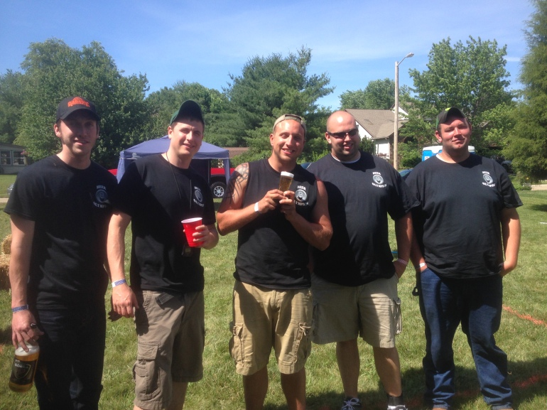 3rd place team with their Far Out Beer Trophy