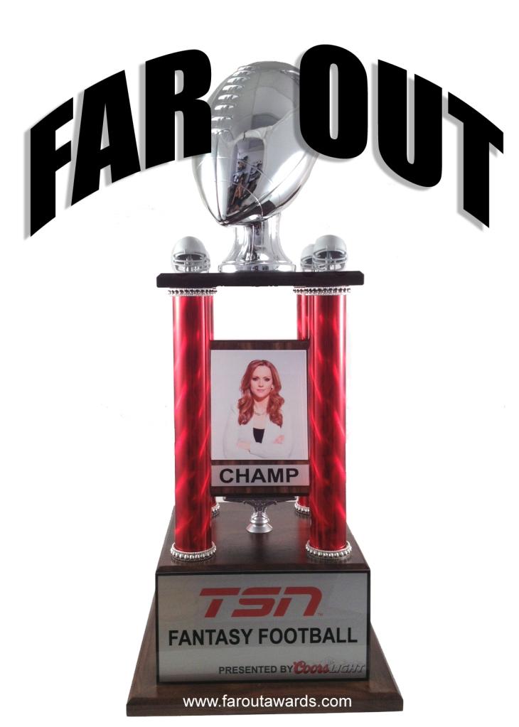 TSN fantasy football trophy