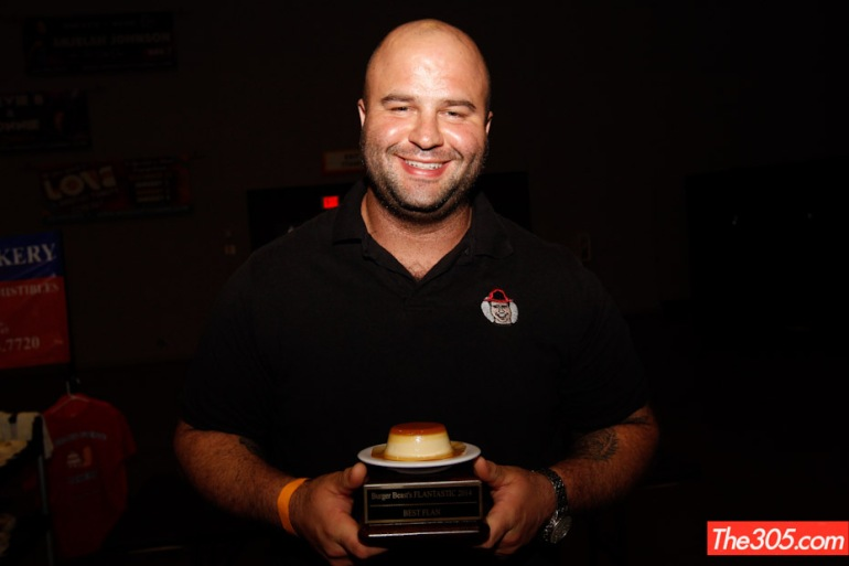 Fireman Derek with his Far Out Flan Award