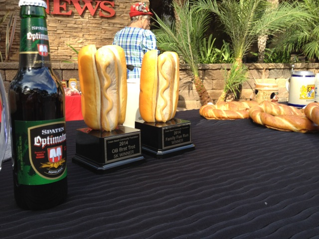 Far Out Bratwurst on Bun Trophies